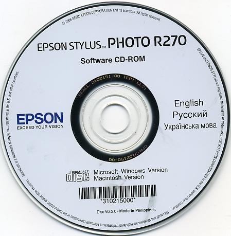 скачать драйвера epson r270 windows 7