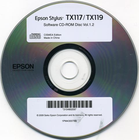 Установочный диск драйверов для принтера epson